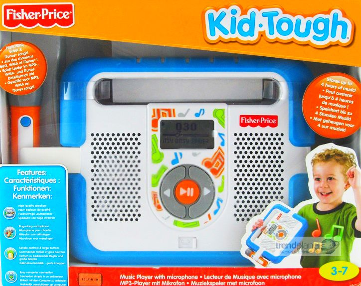 fisher price mp3 player mit mikrofon musikspieler kid tough kinder karaoke neu. Black Bedroom Furniture Sets. Home Design Ideas